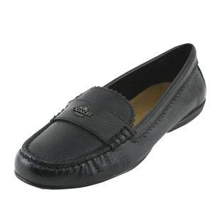 COACH Odette pebbled leather moccasin loafer shoe